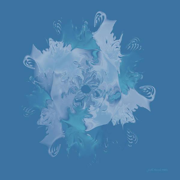 Digital Art - Elegant Blue Flower 1 by Judi Suni Hall