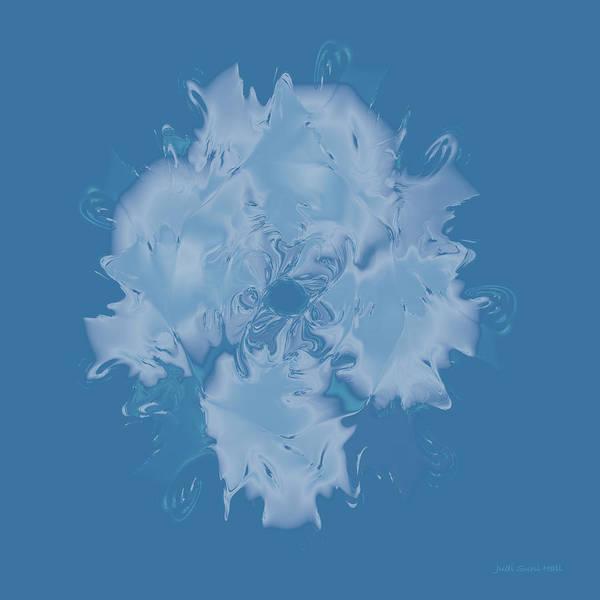Digital Art - Elegant Blue Flower 2 by Judi Suni Hall