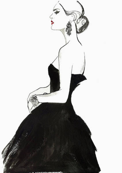 High Society Digital Art - Elegant Haughty Woman Wearing Strapless by Jessica Durrant