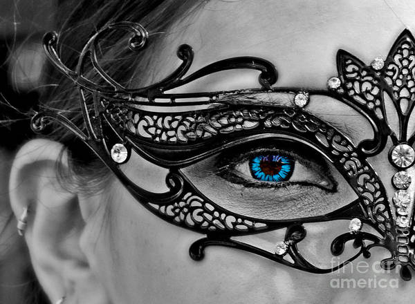 Gra Photograph - Elegant Mask by Tom Gari Gallery-Three-Photography