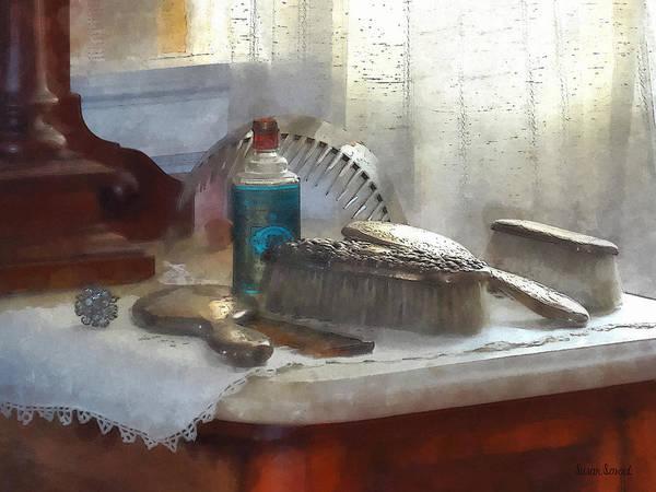 Photograph - Elegant Silver Hair Brush Set by Susan Savad