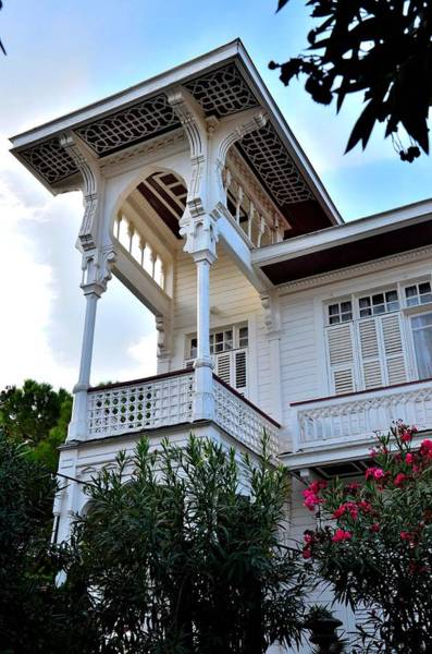 Photograph - Elegant White House And Balcony by Imran Ahmed