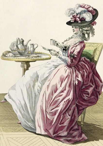 Elegant Woman In A Dress A Langlaise Art Print