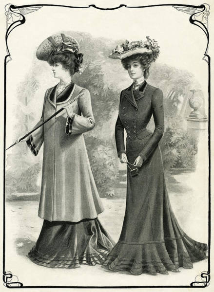 Millinery Photograph - Elegant Women Of 1902 by Daniel Hagerman