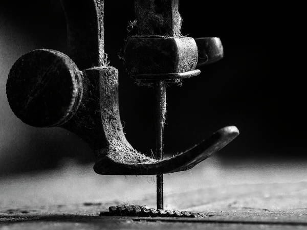 Sewing Wall Art - Photograph - .....element Sewing Machine..... by Johanes Januar