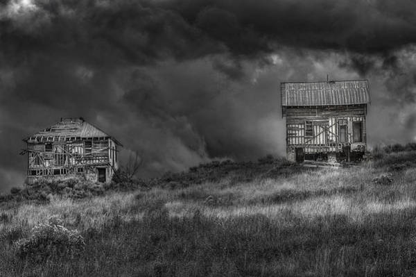 Ghost Town Photograph - Elemental Deconstruction by Medicine Tree Studios