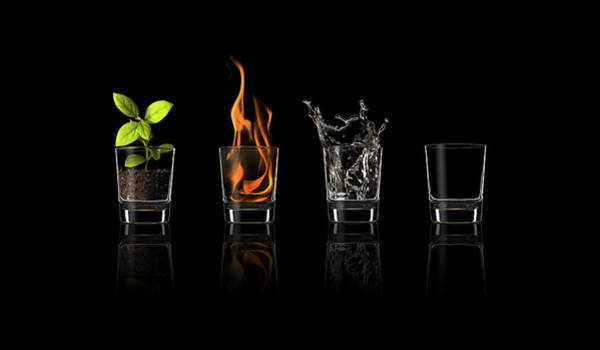 Splash Photograph - Elements... by Jose Mar?a Frutos