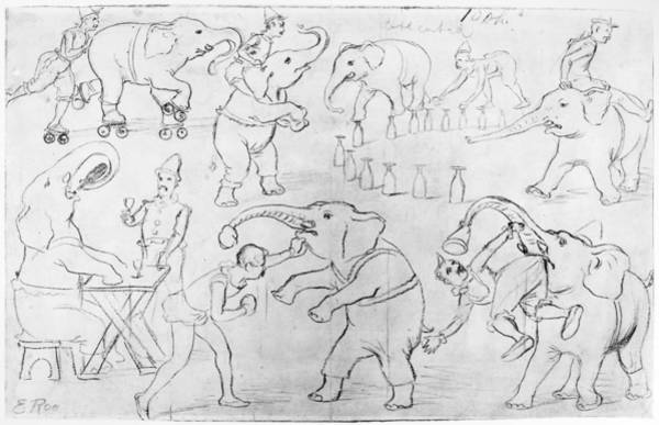 1880 Drawing - Elephant Acts, 1880s by Granger
