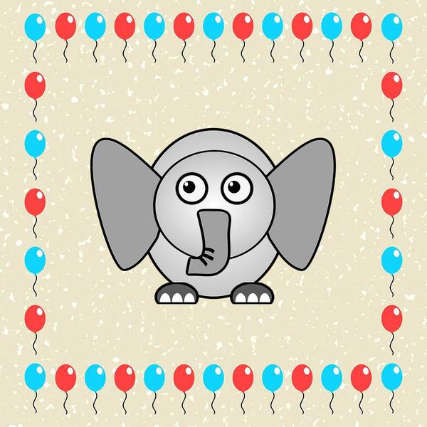 Digital Art - Elephant - Animals - Art For Kids by Anastasiya Malakhova