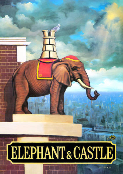 Tavern Painting - Elephant Castle by MGL Meiklejohn Graphics Licensing