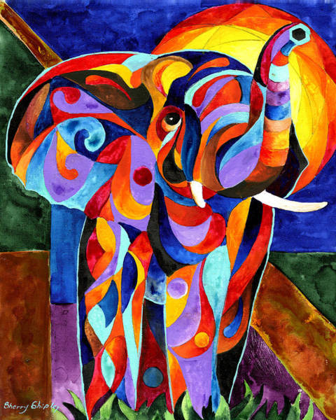 Painting - Elephant Dream by Sherry Shipley
