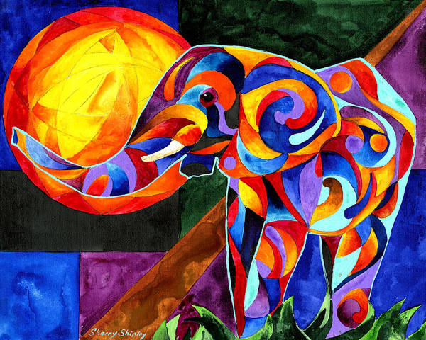 Painting - Elephant Dreams 2 by Sherry Shipley