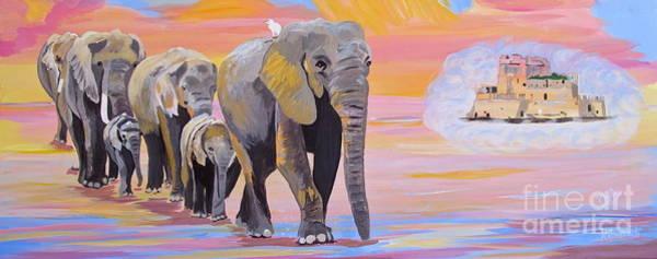 Wall Art - Painting - Elephant Fantasy  by Phyllis Kaltenbach