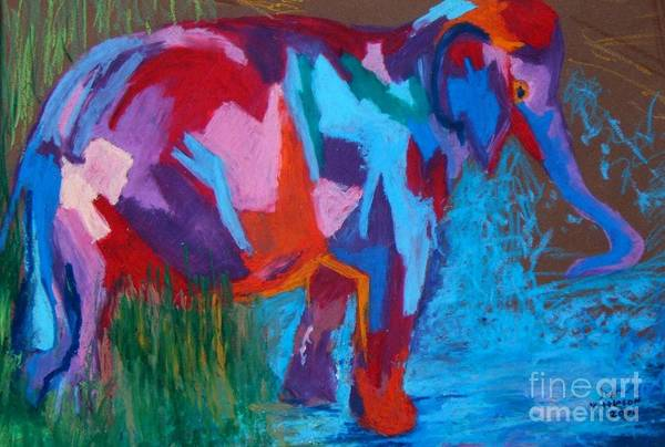 Drawing - Elephant by Jon Kittleson