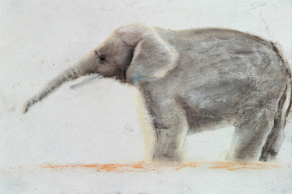Raising Wall Art - Painting - Elephant  by Jung Sook Nam