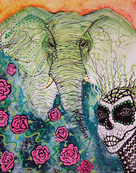 Wall Art - Painting - Elephant Keeper by Laura Barbosa