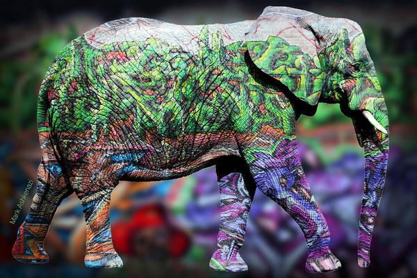 Geek Photograph - Elephant by Mark Ashkenazi