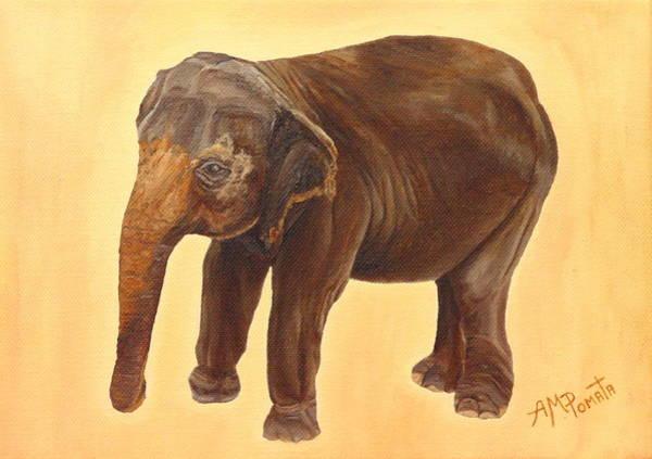 Painting - Elephant by Angeles M Pomata
