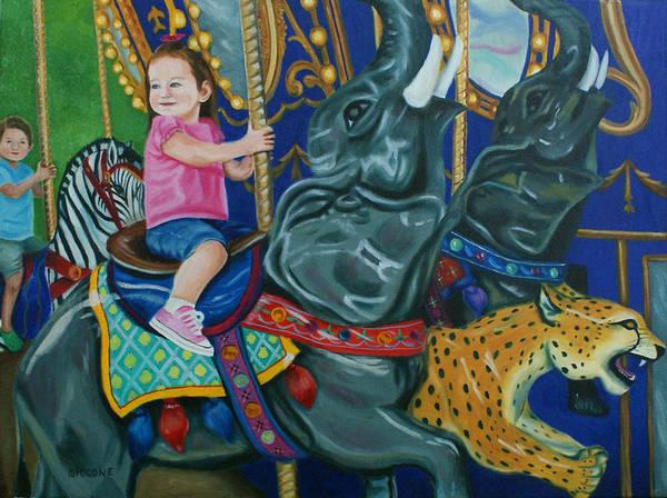 Elephant Ride Art Print