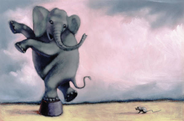Daring Painting - Elephant by Steve Dininno