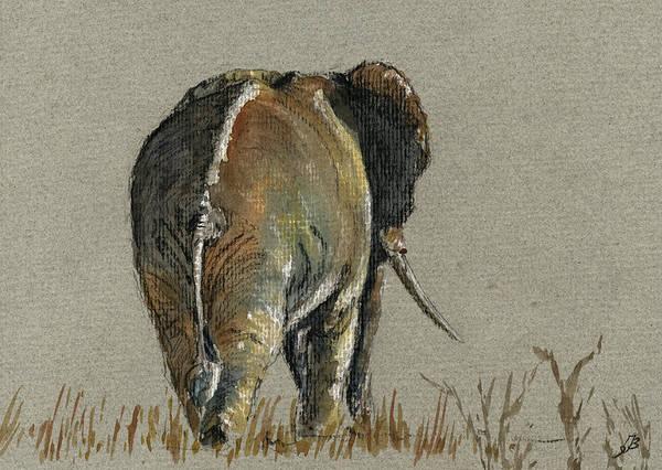 Elephant Walking Art Print