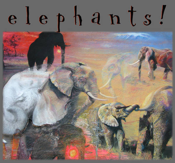 Brook Mixed Media - Elephants - Art 4 Kids - Pencil Drawings - Pencil And Pastel Art by Brooks Garten Hauschild