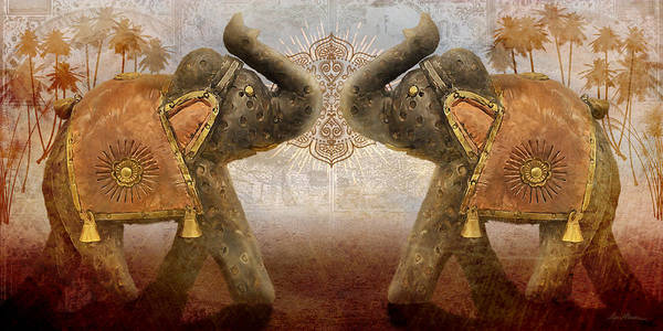 Digital Art - Elephants I by April Moen