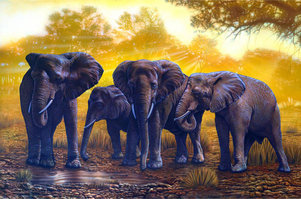 Painting - Elephants by JQ Licensing