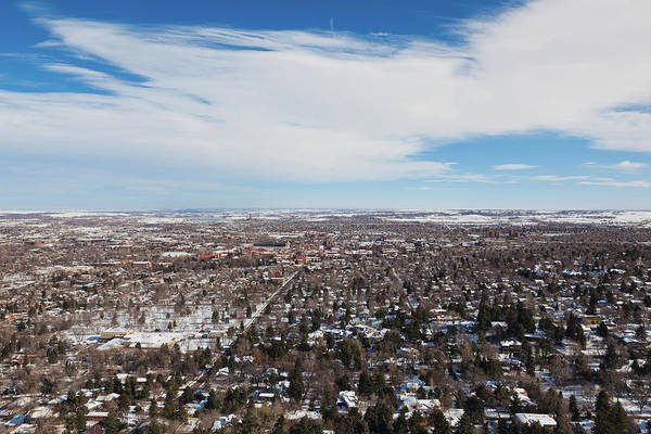 Flagstaff Photograph - Elevated City View From Flagstaff by Panoramic Images
