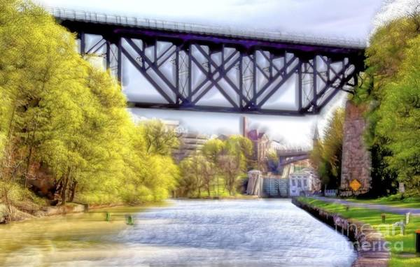 Photograph - Elevated Railroad Bridge by Jim Lepard