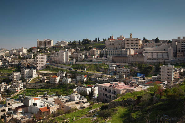 Bethlehem Photograph - Elevated Town View From Manger Street by Panoramic Images