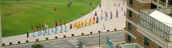 Procession Photograph - Elevated View Of A Procession by Panoramic Images