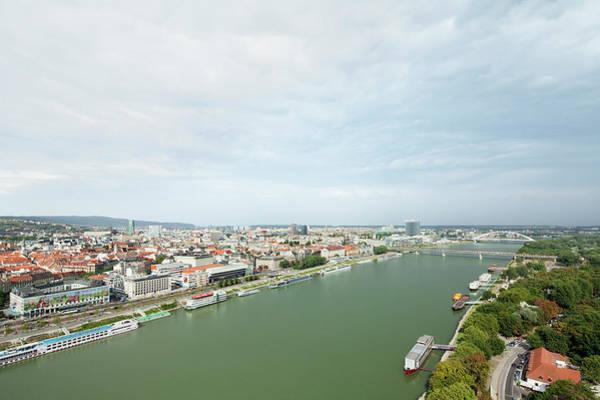 Danube Photograph - Elevated View Of Bratislava, Danube by Raimund Koch