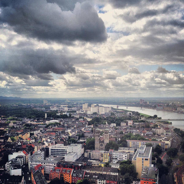 Rhine River Photograph - Elevated View Of Cologne, Germany by Yulia Reznikov
