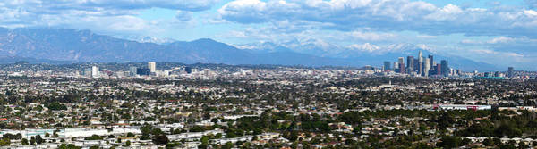 Mt. Wilson Photograph - Elevated View Of Downtown Los Angeles by Panoramic Images