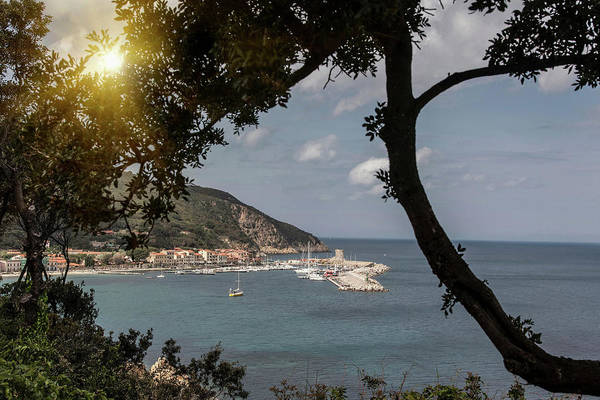 Elba Photograph - Elevated View Of Marciana Marina, Elba by Walter Zerla
