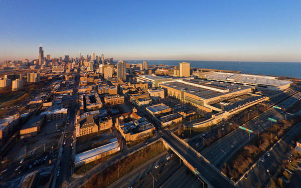 Mccormick Photograph - Elevated View Of Mccormick Place, Lake by Panoramic Images