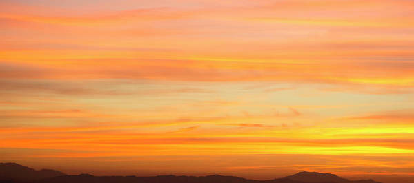 Riverside California Photograph - Elevated View Of Mountains At Sunset by Panoramic Images