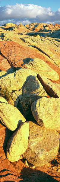 Valley Of Fire Photograph - Elevated View Of Rock Formations by Panoramic Images
