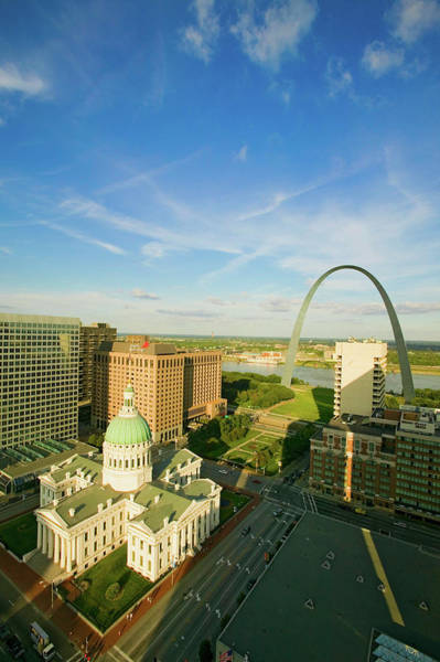 Greek Revival Architecture Photograph - Elevated View Of Saint Louis Historical by Panoramic Images