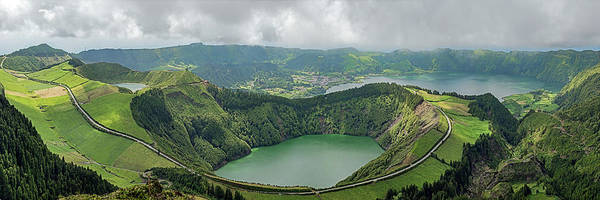 Azores Photograph - Elevated View Of Stratovolcanic by Panoramic Images