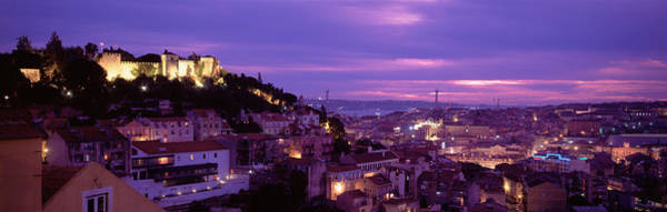 Lisbon Castle Photograph - Elevated View Of The City, Skyline by Panoramic Images