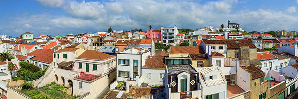 Azores Photograph - Elevated View Of The Cityscape, Ponta by Panoramic Images
