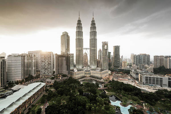 Photograph - Elevated View Of The Petronas Towers At by Martin Puddy