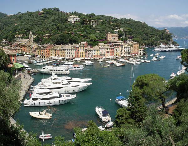 Portofino Photograph - Elevated View Of The Portofino by Panoramic Images