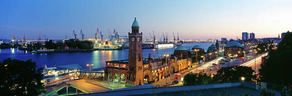 Wall Art - Photograph - Elevated View Of The St. Pauli Piers by Panoramic Images