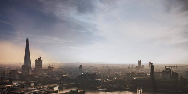 Tate Photograph - Elevated View Over London City by Shomos Uddin