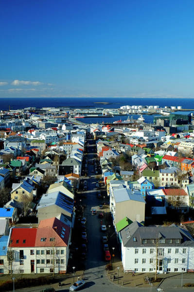 Reykjavik Photograph - Elevated View Over Reykjavic, Iceland by Travelpix Ltd