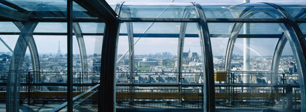 Paris Rooftop Photograph - Elevated Walkway In A Museum, Pompidou by Panoramic Images