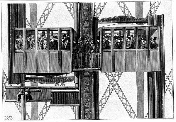 Lift Photograph - Elevators On The Eiffel Tower by Universal History Archive/uig